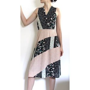 NEW Monteau long floral print dress